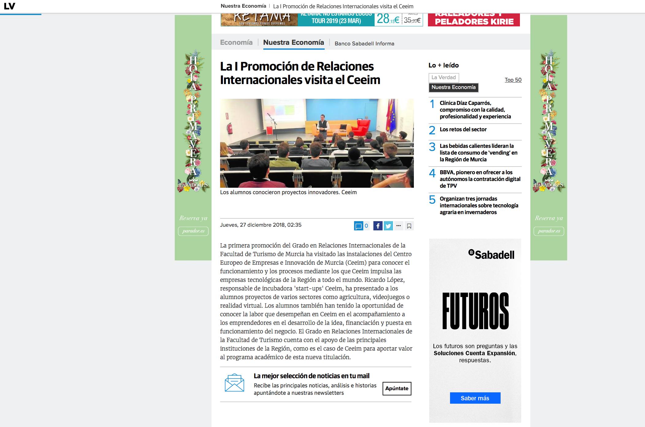 Grado Relaciones Internacionales Murcia